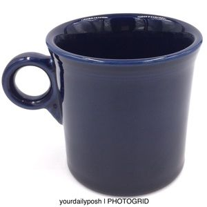 Fiesta Tom and Jerry ring handle coffee mug—Cobalt